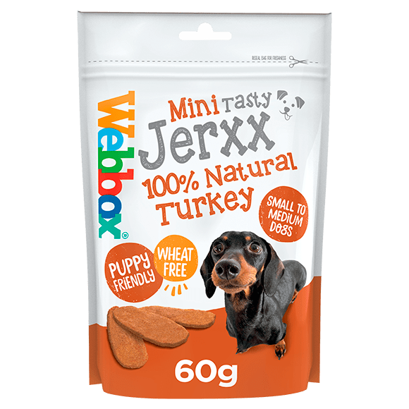 Webbox Mini Tasty Jerxx Turkey Dog Treats