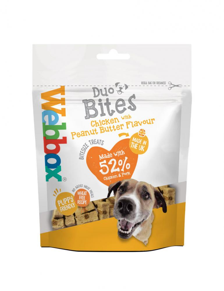 Webbox Duo Bites Chicken and Peanut Butter Dog Treats