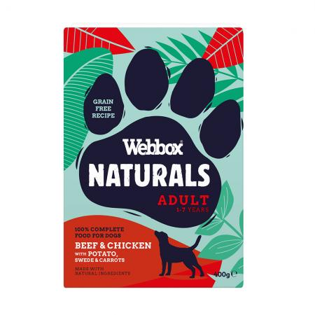 Webbox Naturals Adult Beef & Chicken with Potato, Swede & Carrots Wet Food