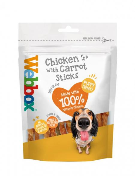 Webbox Chewy Chicken with Carrot Sticks Dog Treats