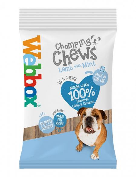 Webbox Chomping Chews Lamb with Mint Dog Treats