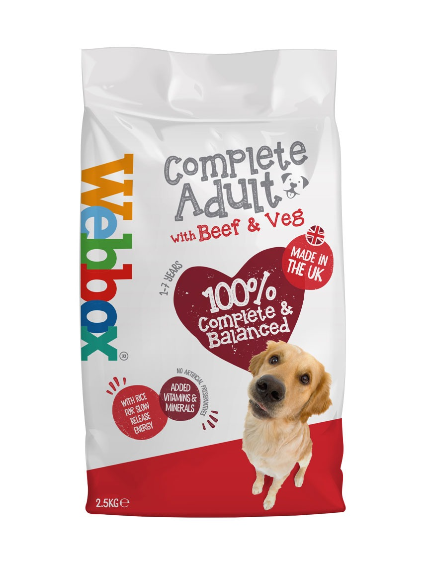 Webbox Everyday Beef Complete Dry Dog Food