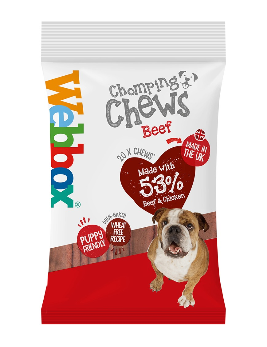 Webbox Meaty Chomping Chews Beef Dog Treats