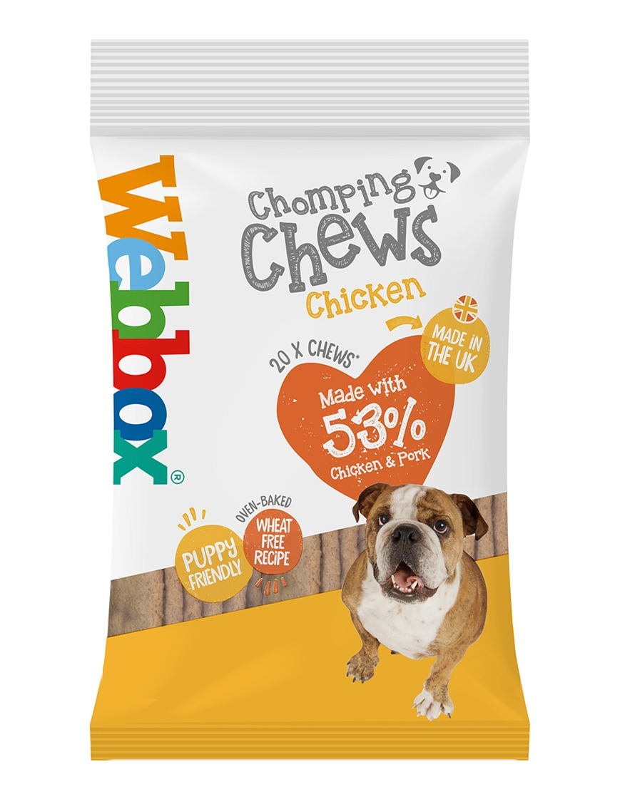 Webbox Meaty Chomping Chews Chicken Dog Treats