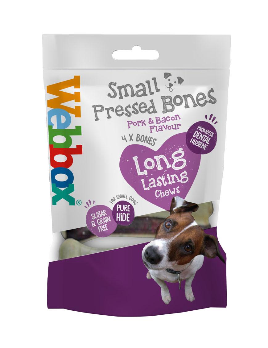 Webbox Hide Porky Small Pressed Bones Dog Treat
