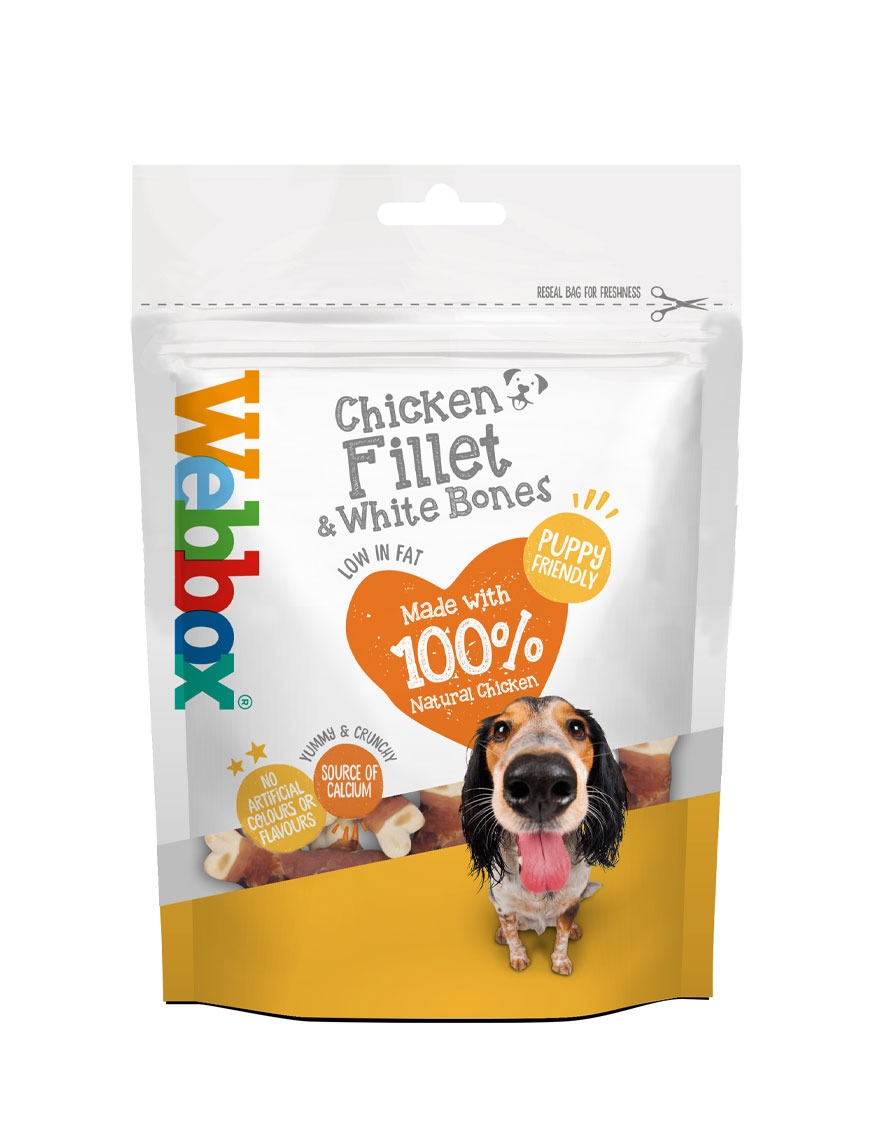 Webbox Chicken Fillets & White Bones Dog Treats