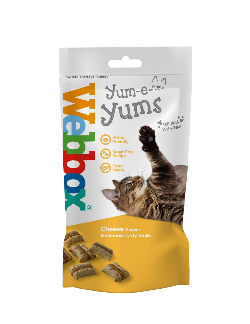 Webbox Yum-e-Yums Cheese Cat Treats