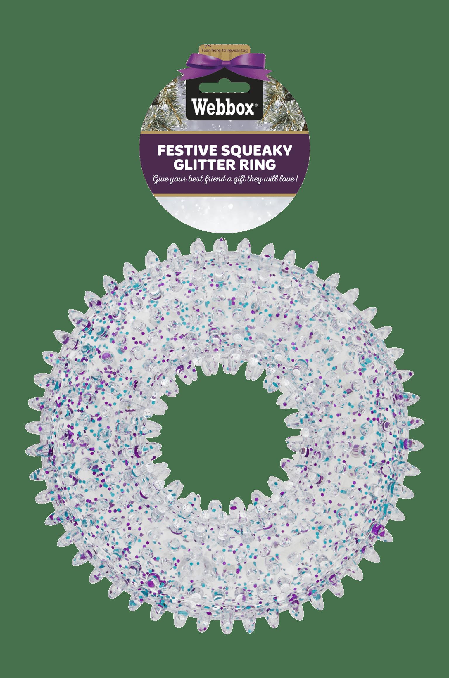 Webbox Festive Squeaky Glitter Ring
